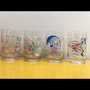 Vintage Disney World 25th Anniversary glasses